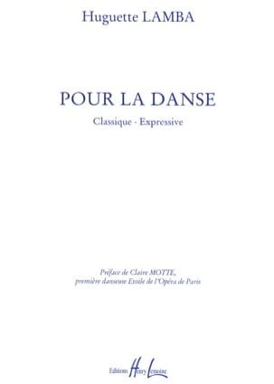 Pour la Danse Huguette Lamba Partition Piano - laflutedepan