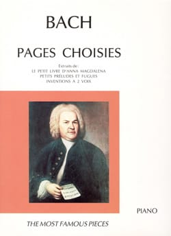 Pages Choisies BACH Partition Piano - laflutedepan