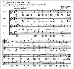 3 Psalmlieder Opus 13 Peter Cornelius Partition Chœur - laflutedepan