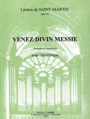 Venez Divin Messie Op. 32 - Léonce de Saint-Martin - laflutedepan.com