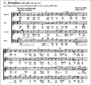 3 Psalmlieder Opus 13 - Peter Cornelius - Partition - laflutedepan.com