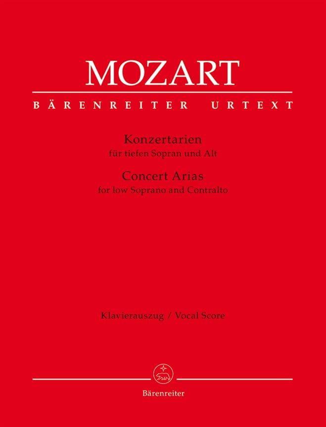 Airs de concerts. Soprano et contralto - MOZART - laflutedepan.com