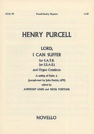 Lord, I Can Suffer PURCELL Partition Chœur - laflutedepan