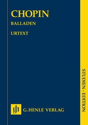 Ballades CHOPIN Partition Petit format - laflutedepan