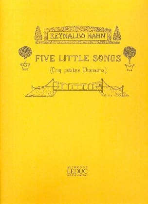 5 Little Songs Reynaldo Hahn Partition Mélodies - laflutedepan