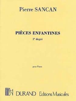 Pièces Enfantines 2ème Degré Pierre Sancan Partition laflutedepan