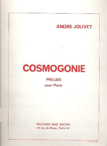 Cosmogonie - André Jolivet - Partition - Piano - laflutedepan.com