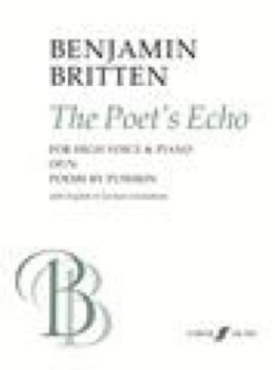 The Poet's Echo Op. 76 - BRITTEN - Partition - laflutedepan.com