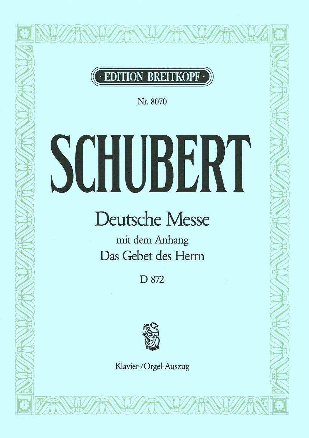 Deutsche Messe - D 872 en Fa Majeur - SCHUBERT - laflutedepan.com