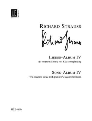 Lieder Album Volume 4. Voix Moyenne Richard Strauss laflutedepan