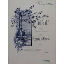 Reynaldo Hahn - infidelidad - Partition - di-arezzo.es