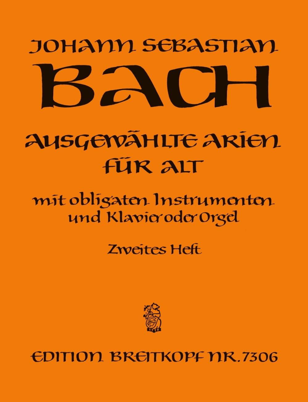 Airs de Cantates Alto Volume 2 - BACH - Partition - laflutedepan.com