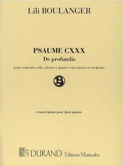 Lili Boulanger - Psalm 130: of Profundis. - Partition - di-arezzo.com