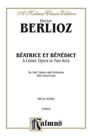 Béatrice et Bénédict BERLIOZ Partition Opéras - laflutedepan