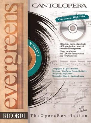 Evergreens. Voix Haute Volume 1 Partition Mélodies - laflutedepan
