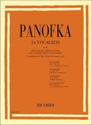 24 Vocalises Op. 81 Heinrich Panofka Partition laflutedepan