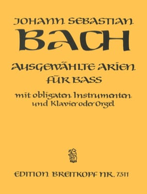 BACH - Airs of Cantatas Bass - Partition - di-arezzo.co.uk