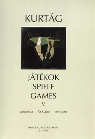 György Kurtag - Jatekok Volume 5 - Partition - di-arezzo.com
