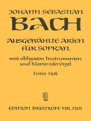 BACH - Airs of Soprano Cantata Volume 1 - Partition - di-arezzo.co.uk