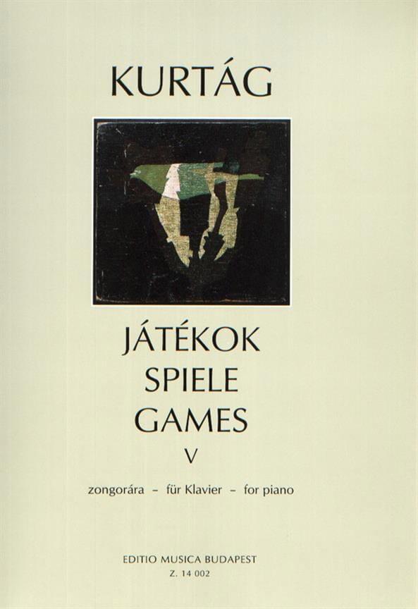 Jatekok Volume 5 - KURTAG - Partition - Piano - laflutedepan.com