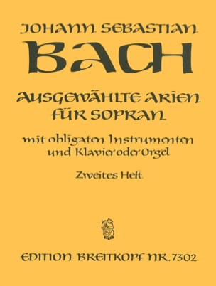 BACH - Airs of Soprano Cantata Volume 2 - Partition - di-arezzo.co.uk