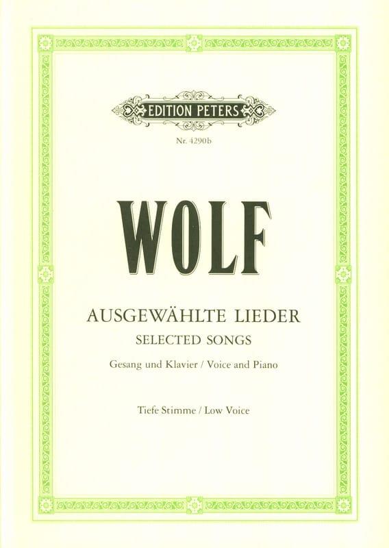 Ausgewählte Lieder. Voix Grave - Hugo Wolf - laflutedepan.com