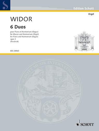 6 Duos Piano et Harmonium - WIDOR - Partition - laflutedepan.com