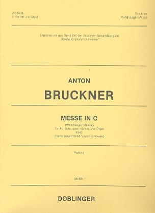 Messe En Ut BRUCKNER Partition Cor - laflutedepan