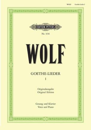 Goethe-Lieder Volume 1 Hugo Wolf Partition Mélodies - laflutedepan