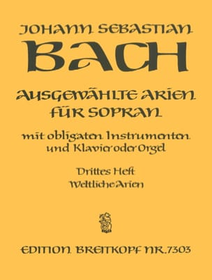 BACH - Airs of Soprano Cantata Volume 3 - Partition - di-arezzo.co.uk