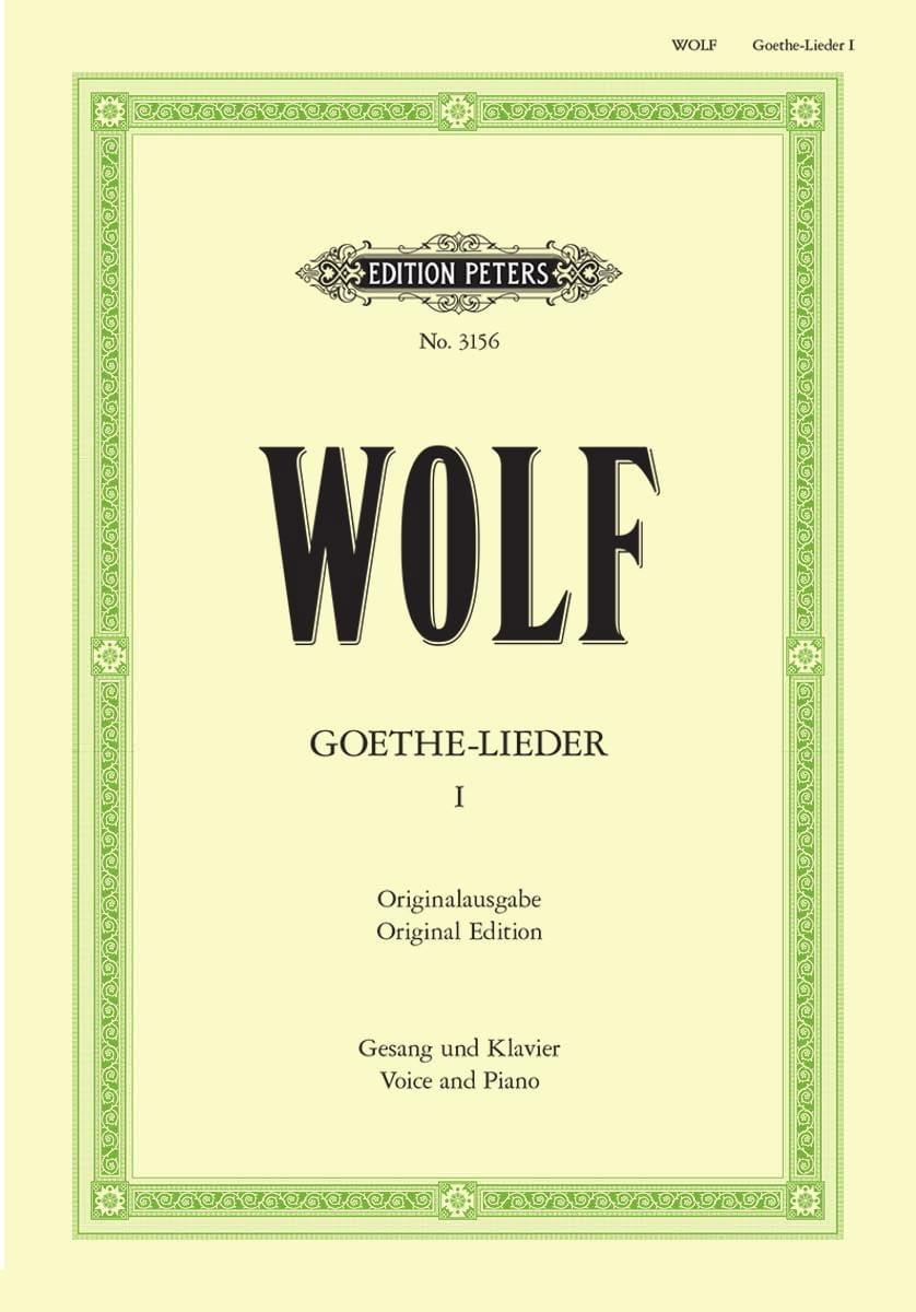 Goethe-Lieder Volume 1 - Hugo Wolf - Partition - laflutedepan.com