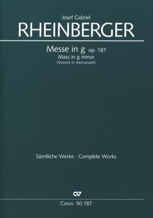 Missa In G Für Frauenchor Opus 187 RHEINBERGER Partition laflutedepan