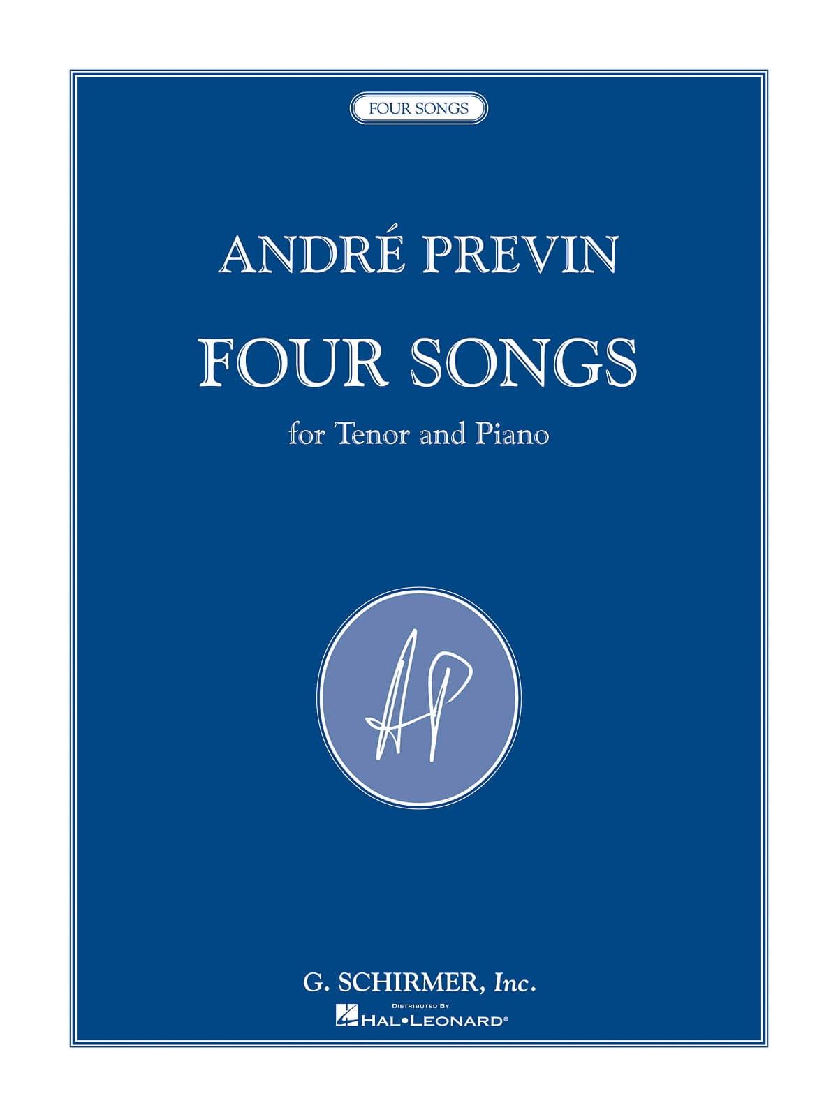 4 Songs - André Prévin - Partition - Mélodies - laflutedepan.com