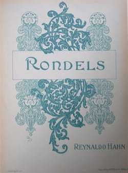 Rondels Reynaldo Hahn Partition Mélodies - laflutedepan
