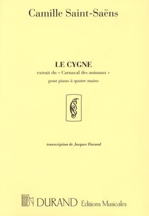Le Cygne - Piano 4 mains SAINT-SAËNS Partition Piano - laflutedepan