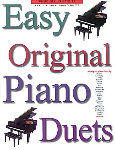 Easy Original Piano Duets - Partition - Piano - laflutedepan.com