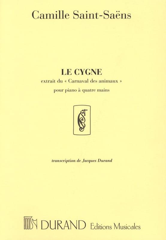 Le Cygne - Piano 4 mains - SAINT-SAËNS - Partition - laflutedepan.com