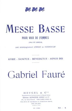 Messe Basse pour voix de femmes FAURÉ Partition Chœur - laflutedepan