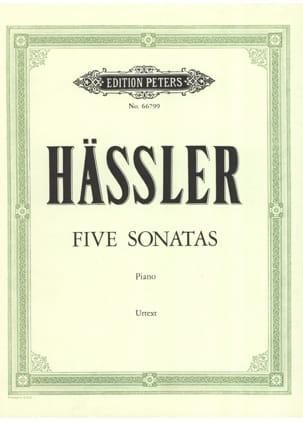 5 Sonates Johann Wilhelm Hässler Partition Piano - laflutedepan