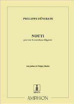 Notti Philippe Fénelon Partition Contrebasse - laflutedepan