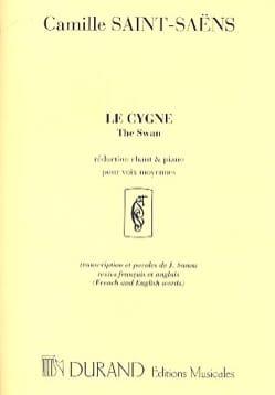 Le Cygne. Chant SAINT-SAËNS Partition Mélodies - laflutedepan
