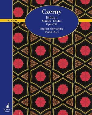 Etudes Op. 751 CZERNY Partition Piano - laflutedepan