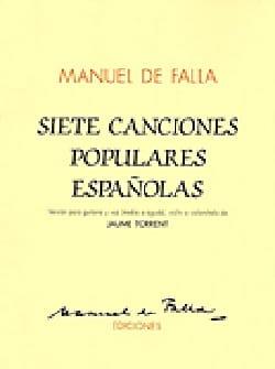 7 Canciones Populares Espanolas DE FALLA Partition laflutedepan