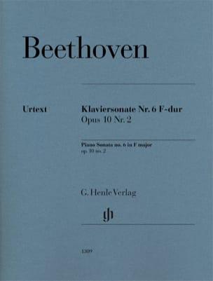 Sonate pour piano n° 6 en Fa majeur op. 10-2 BEETHOVEN laflutedepan