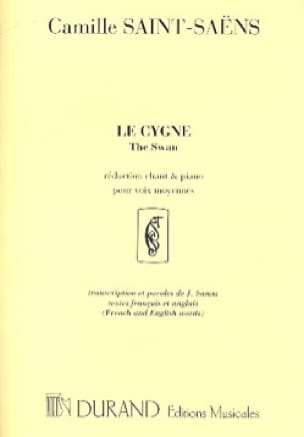 Le Cygne. Chant - SAINT-SAËNS - Partition - laflutedepan.com