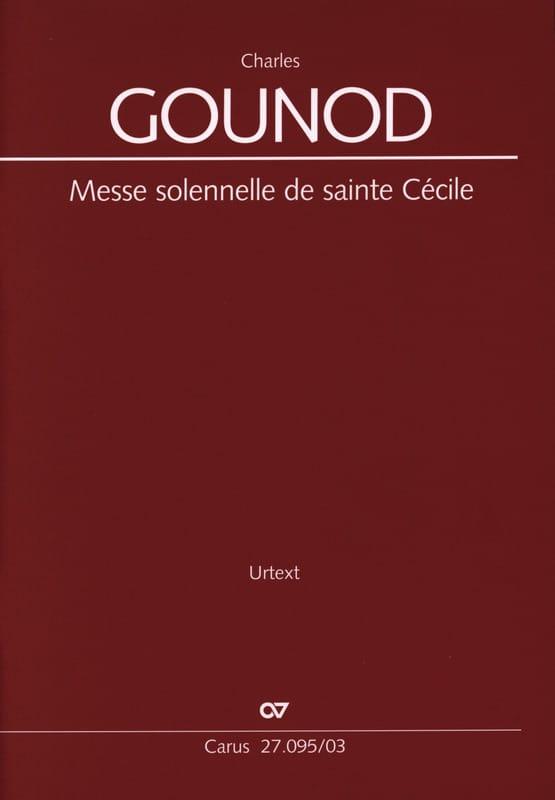 Messe Solennelle de Sainte Cécile CG 56 - GOUNOD - laflutedepan.com