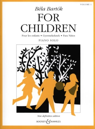 For Children Volume 1 BARTOK Partition Piano - laflutedepan