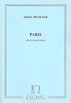 Paris. 4 Pianos. MILHAUD Partition Piano - laflutedepan