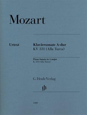 Sonate en La Majeur MOZART Partition Piano - laflutedepan