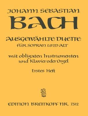 Ausgewählte Duette Sopran und Alt Volume 1 BACH Partition laflutedepan
